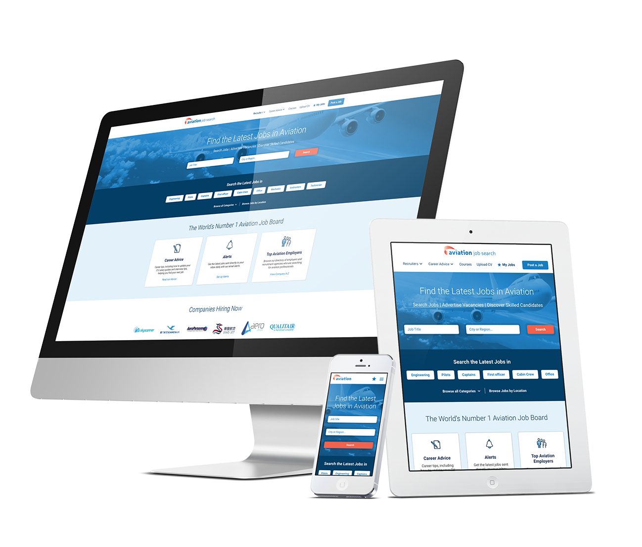 aviation job site responsive