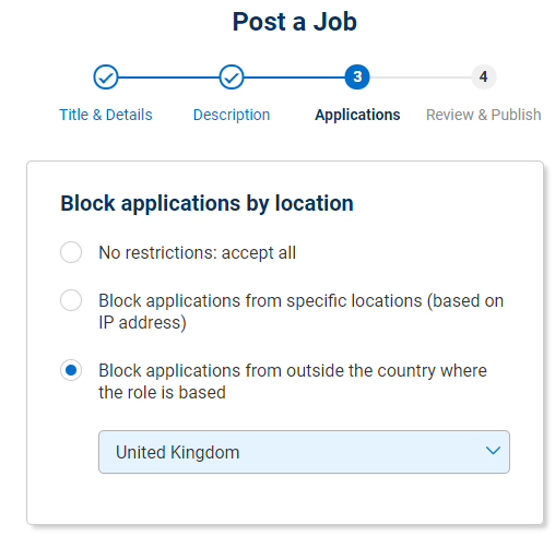 Block applications from outside country